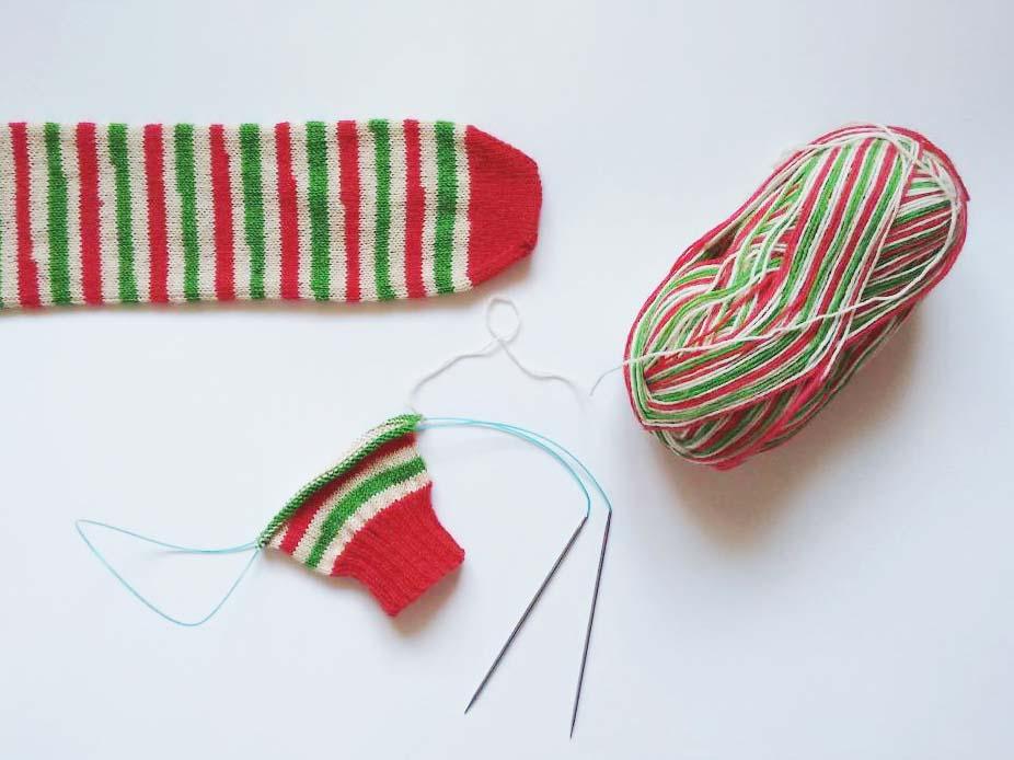 Candy Cane Sock