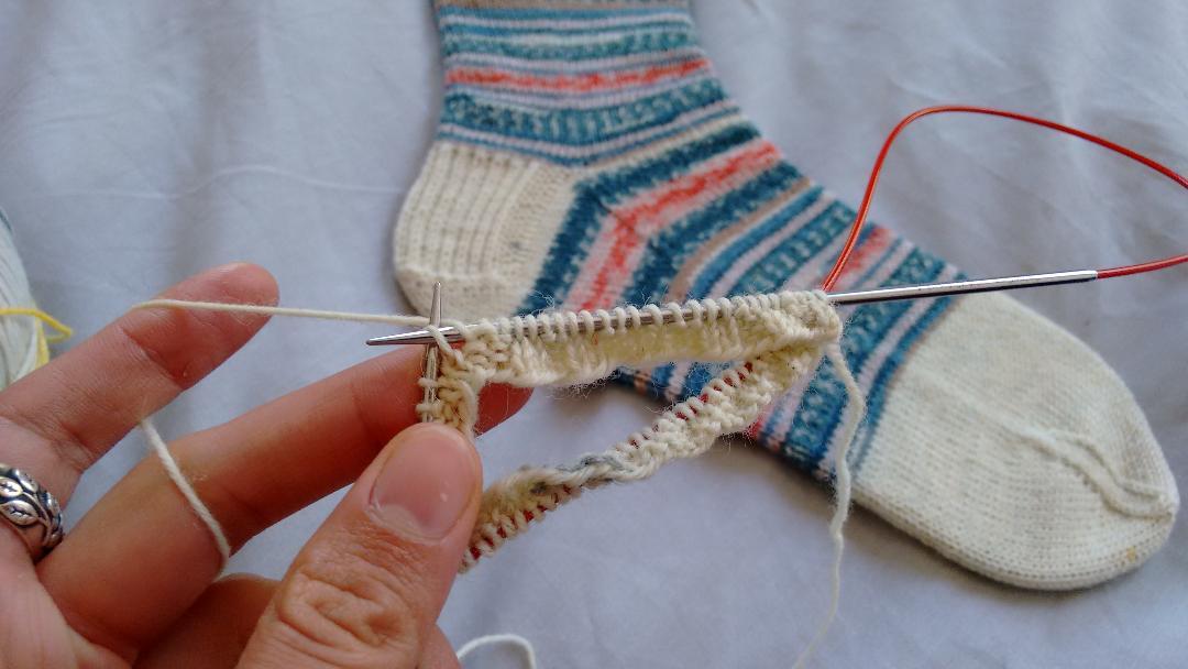 Self_Striping_Vanilla_Sock